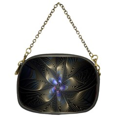 Fractal Blue Abstract Fractal Art Chain Purses (one Side)