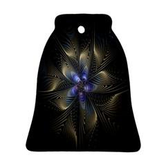 Fractal Blue Abstract Fractal Art Ornament (bell) by Nexatart