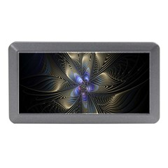 Fractal Blue Abstract Fractal Art Memory Card Reader (mini)
