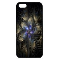 Fractal Blue Abstract Fractal Art Apple Iphone 5 Seamless Case (black) by Nexatart