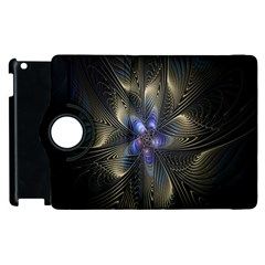 Fractal Blue Abstract Fractal Art Apple Ipad 3/4 Flip 360 Case by Nexatart
