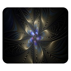 Fractal Blue Abstract Fractal Art Double Sided Flano Blanket (small)