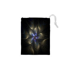 Fractal Blue Abstract Fractal Art Drawstring Pouches (xs)  by Nexatart
