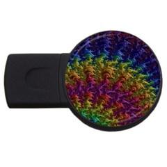 Fractal Art Design Colorful Usb Flash Drive Round (2 Gb)