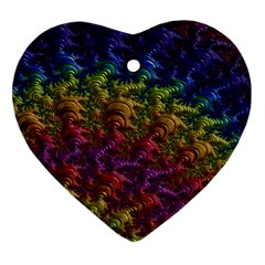 Fractal Art Design Colorful Heart Ornament (two Sides) by Nexatart