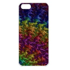 Fractal Art Design Colorful Apple Iphone 5 Seamless Case (white) by Nexatart