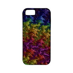 Fractal Art Design Colorful Apple Iphone 5 Classic Hardshell Case (pc+silicone)