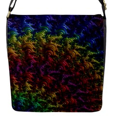 Fractal Art Design Colorful Flap Messenger Bag (s)