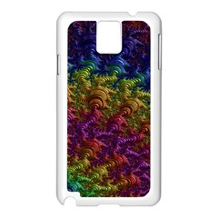 Fractal Art Design Colorful Samsung Galaxy Note 3 N9005 Case (white) by Nexatart