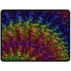 Fractal Art Design Colorful Double Sided Fleece Blanket (large)