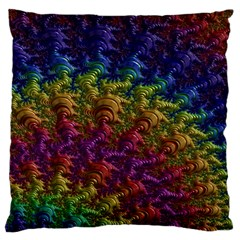 Fractal Art Design Colorful Large Flano Cushion Case (two Sides)