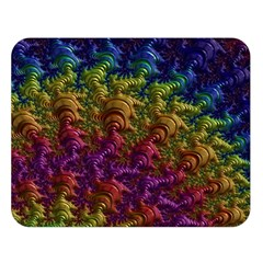Fractal Art Design Colorful Double Sided Flano Blanket (large)