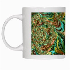 Fractal Artwork Pattern Digital White Mugs