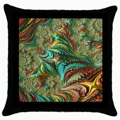 Fractal Artwork Pattern Digital Throw Pillow Case (black)