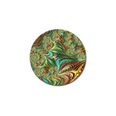 Fractal Artwork Pattern Digital Golf Ball Marker