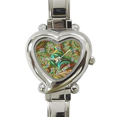 Fractal Artwork Pattern Digital Heart Italian Charm Watch