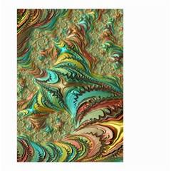 Fractal Artwork Pattern Digital Small Garden Flag (two Sides) by Nexatart