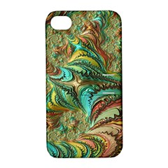 Fractal Artwork Pattern Digital Apple Iphone 4/4s Hardshell Case With Stand