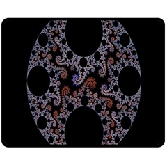 Fractal Complexity Geometric Fleece Blanket (medium)  by Nexatart