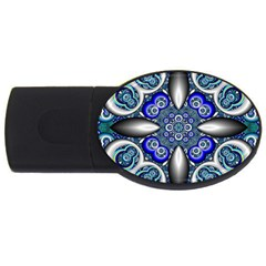 Fractal Cathedral Pattern Mosaic Usb Flash Drive Oval (4 Gb) by Nexatart