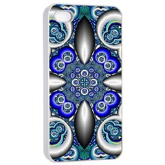 Fractal Cathedral Pattern Mosaic Apple Iphone 4/4s Seamless Case (white) by Nexatart