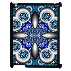 Fractal Cathedral Pattern Mosaic Apple Ipad 2 Case (black)