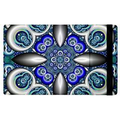 Fractal Cathedral Pattern Mosaic Apple Ipad 2 Flip Case