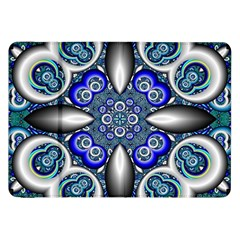 Fractal Cathedral Pattern Mosaic Samsung Galaxy Tab 8 9  P7300 Flip Case by Nexatart