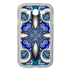 Fractal Cathedral Pattern Mosaic Samsung Galaxy Grand Duos I9082 Case (white)