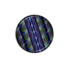 Fractal Blue Lines Colorful Hat Clip Ball Marker (10 Pack)
