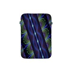 Fractal Blue Lines Colorful Apple Ipad Mini Protective Soft Cases