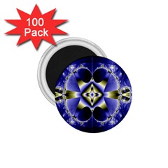 Fractal Fantasy Blue Beauty 1 75  Magnets (100 Pack)  by Nexatart