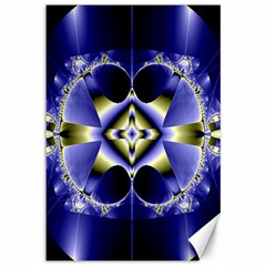 Fractal Fantasy Blue Beauty Canvas 12  X 18