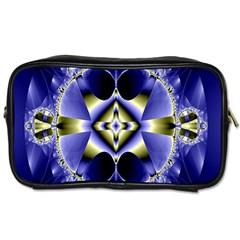 Fractal Fantasy Blue Beauty Toiletries Bags
