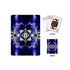 Fractal Fantasy Blue Beauty Playing Cards (mini)