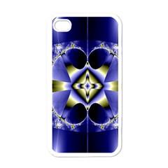 Fractal Fantasy Blue Beauty Apple Iphone 4 Case (white)