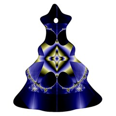 Fractal Fantasy Blue Beauty Christmas Tree Ornament (two Sides) by Nexatart