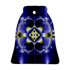 Fractal Fantasy Blue Beauty Bell Ornament (two Sides)