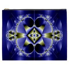 Fractal Fantasy Blue Beauty Cosmetic Bag (xxxl)  by Nexatart