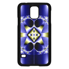 Fractal Fantasy Blue Beauty Samsung Galaxy S5 Case (black)