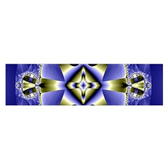 Fractal Fantasy Blue Beauty Satin Scarf (oblong) by Nexatart