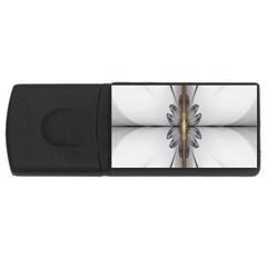 Fractal Fleur Elegance Flower Usb Flash Drive Rectangular (4 Gb)