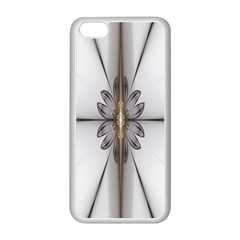 Fractal Fleur Elegance Flower Apple Iphone 5c Seamless Case (white)