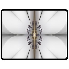 Fractal Fleur Elegance Flower Double Sided Fleece Blanket (large)  by Nexatart