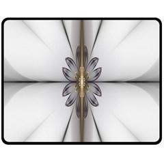 Fractal Fleur Elegance Flower Fleece Blanket (Medium)  by Nexatart