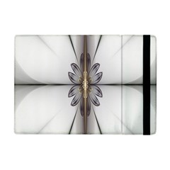 Fractal Fleur Elegance Flower Apple Ipad Mini Flip Case by Nexatart