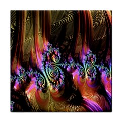 Fractal Colorful Background Tile Coasters by Nexatart