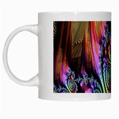 Fractal Colorful Background White Mugs