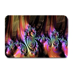 Fractal Colorful Background Plate Mats by Nexatart