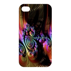 Fractal Colorful Background Apple Iphone 4/4s Premium Hardshell Case by Nexatart